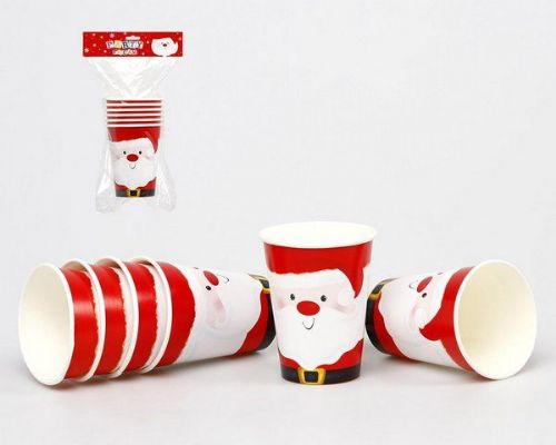 Christmas Party Cups 6cm Pkt 6 Xmas Festive Seasonal Nativity